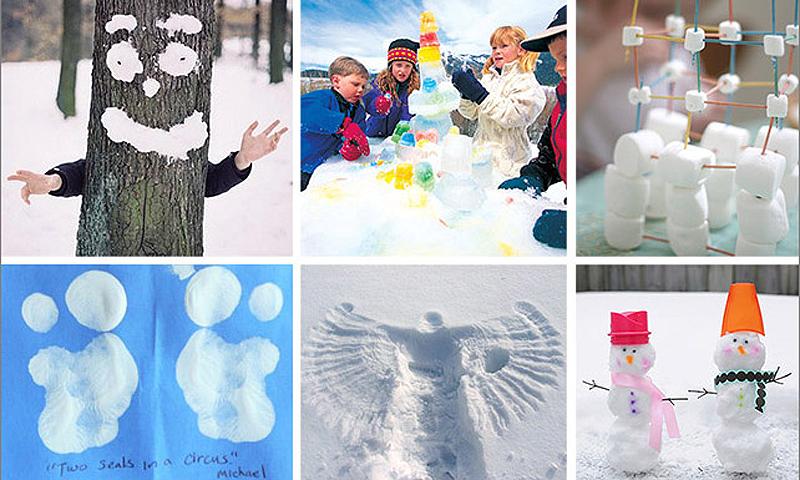 Картинки дети экспериментируют на улице зимой
