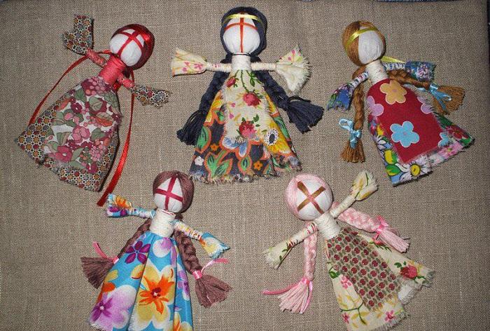 Кукла мотанка из ткани