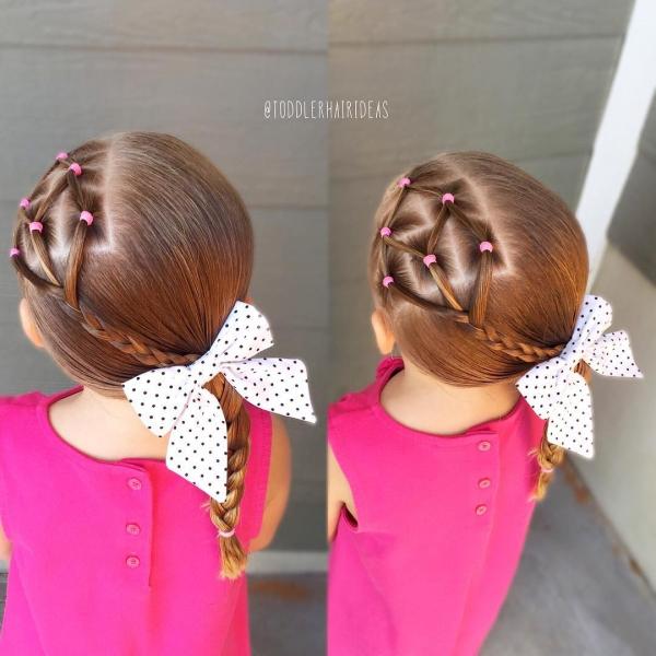 Прически на маленьких девочек на короткие волосы фото пошагово