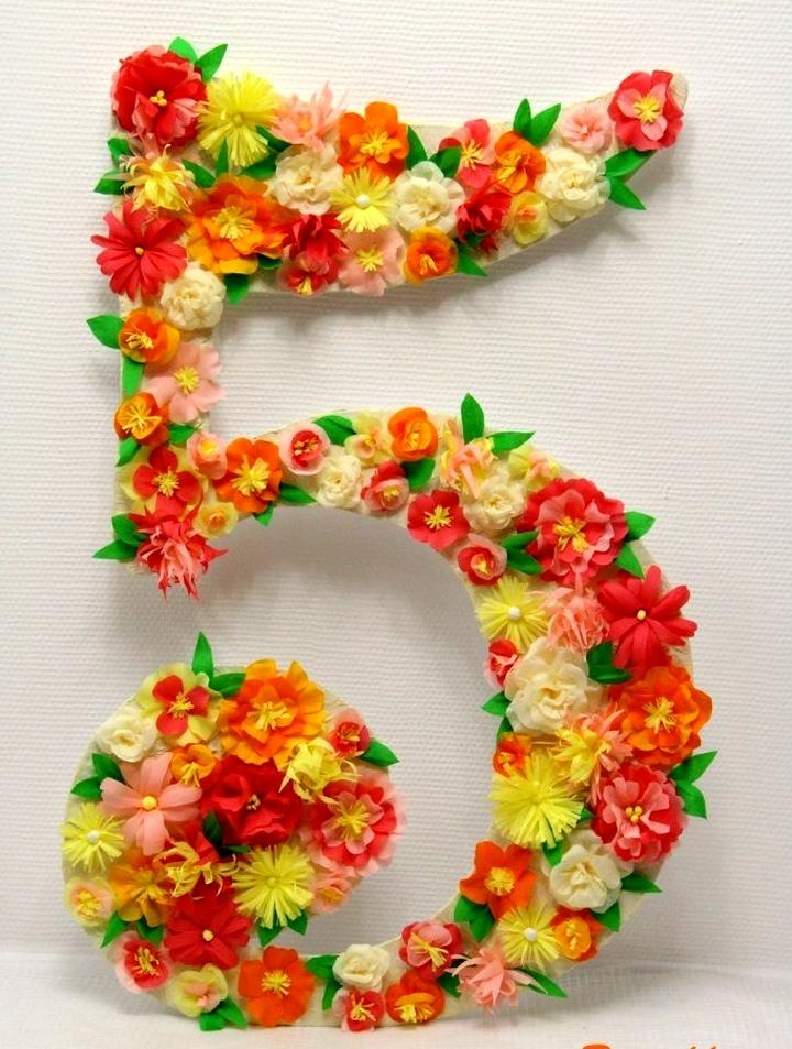 Цифра 8 на день рождения своими руками девочке 59