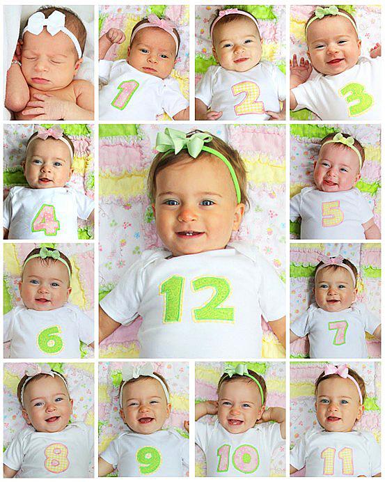 Идеи фото от 1 месяца до 1 года