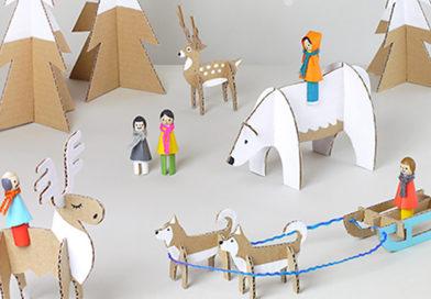 Зимові іграшки з картону