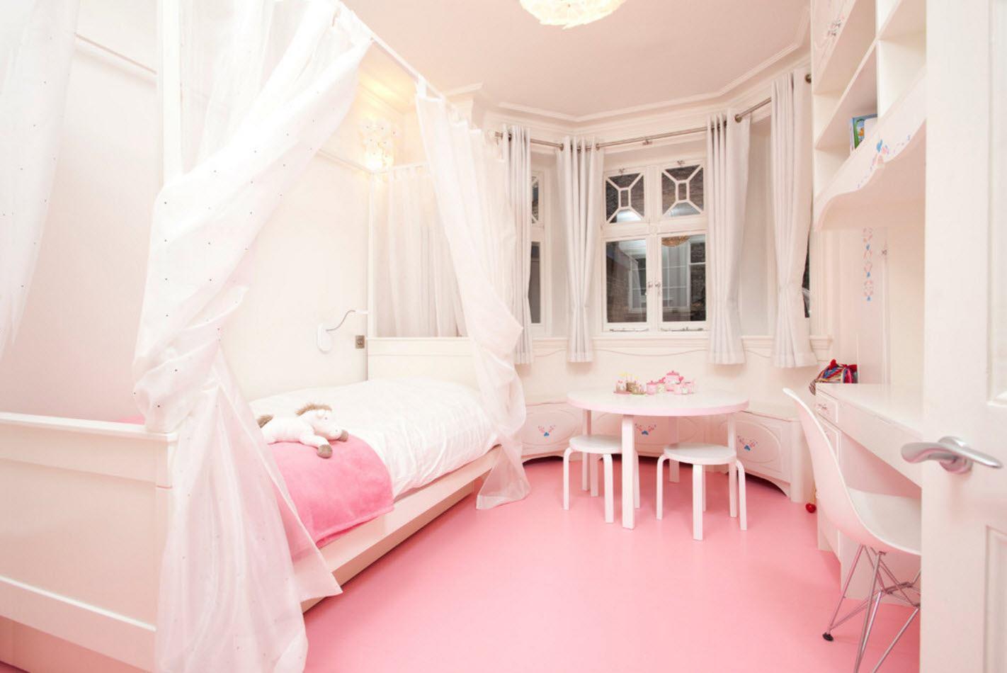Розовые комнаты для девушек фото