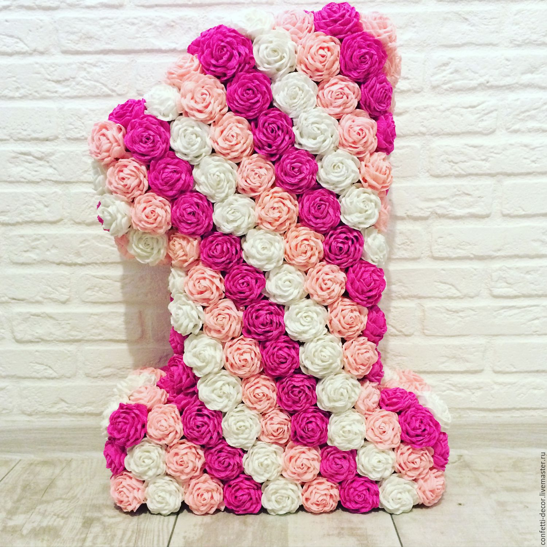 Розы на цифру из салфеток своими руками