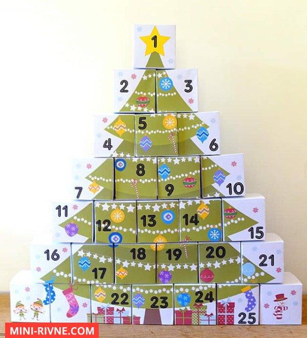 Advent Kalendar Gotovi Shabloni Rozdrukuj Ta Sklej Mini Rivne