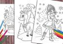 Зимові розмальовки для дітей