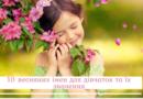 10 весняних імен для дівчаток та їх значення