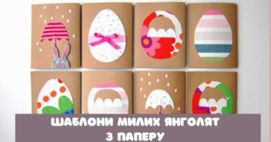 Шаблони великодніх яєчок-розмальовок