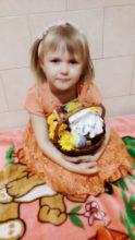 Корзинка готова! Квіти і патріотичні яєчка не забули))))